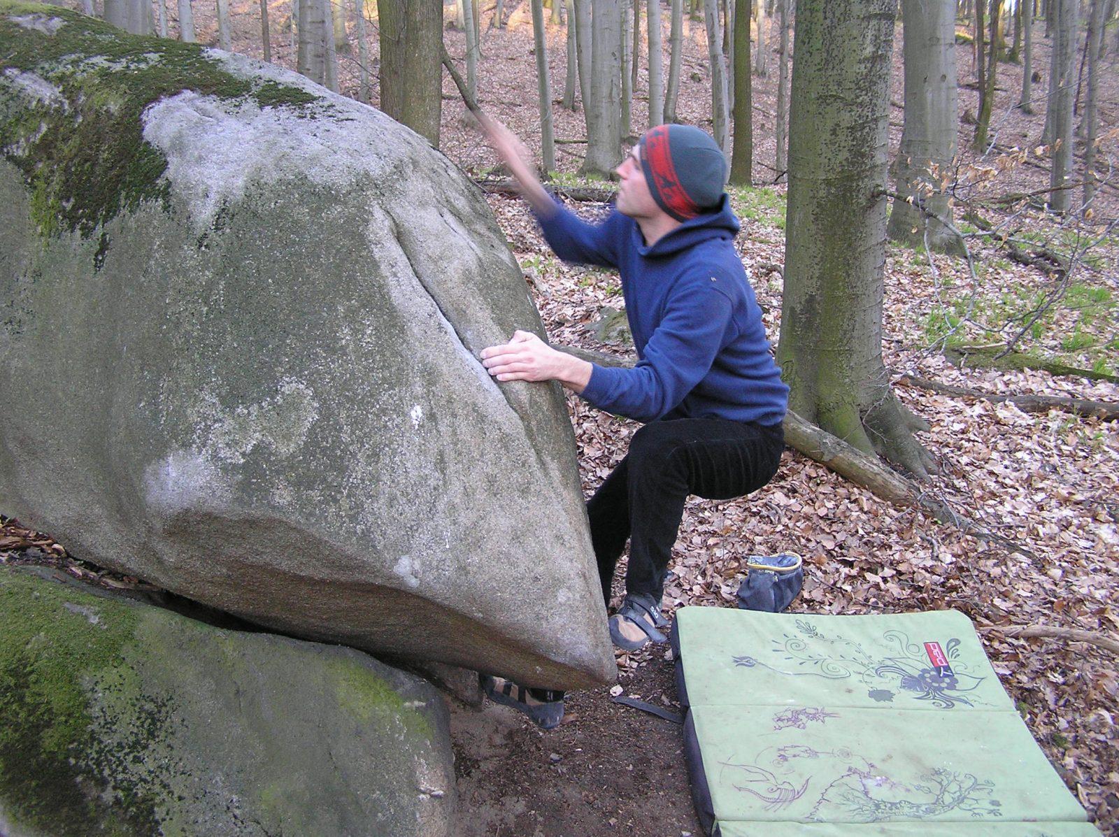 bouldering na Peknej ceste