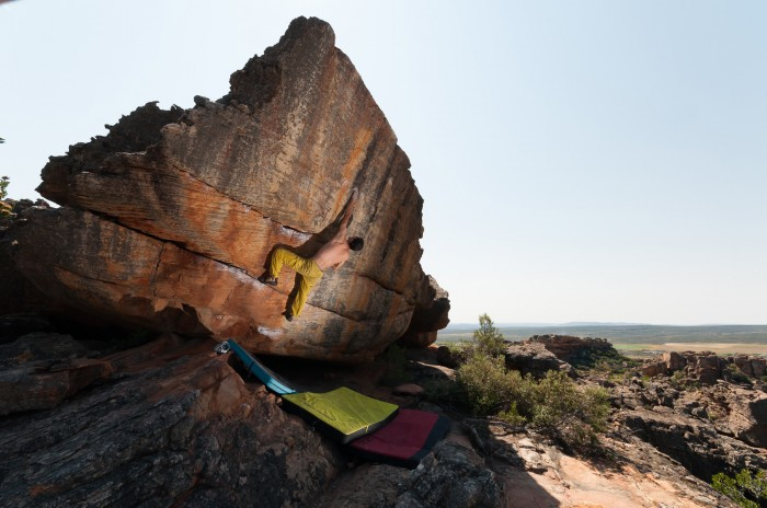 Black mango chutney 7C+, 8 day rain, Rocklands (foto: Adam)