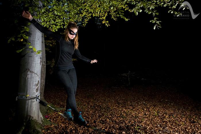 Catwoman na slacku (foto: Martin Viazanko)