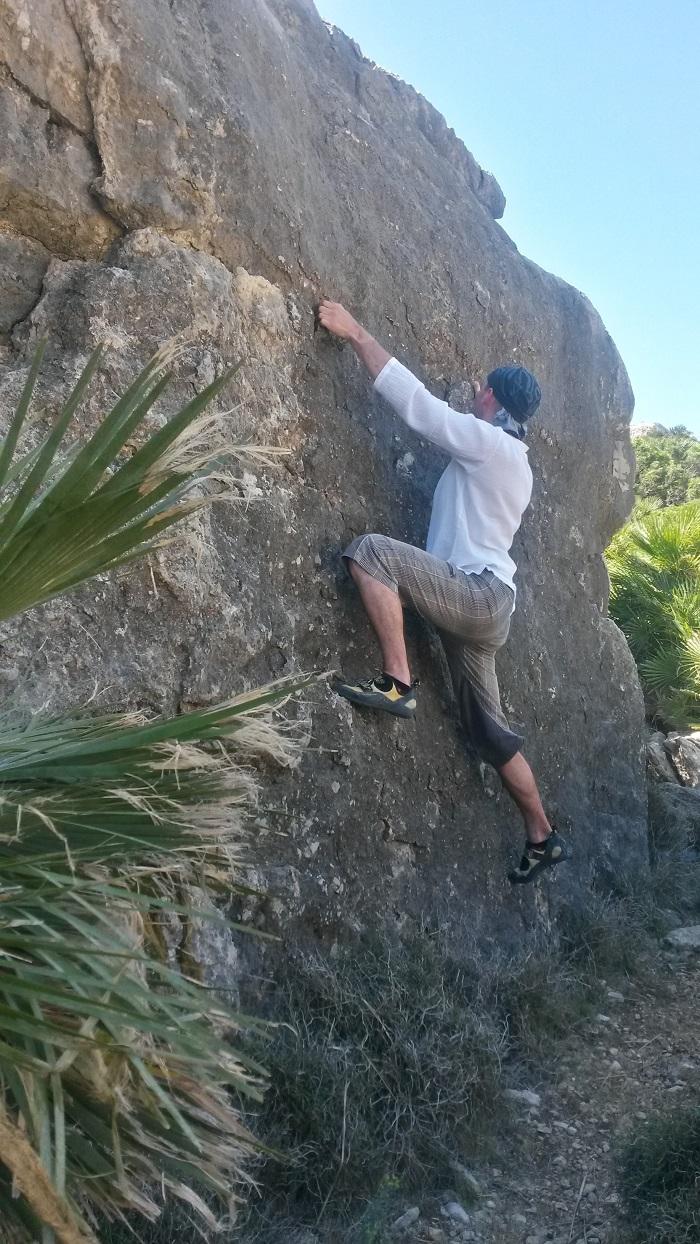 Bouldering nad palmami