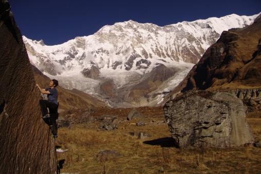 Bouldering v Nepále