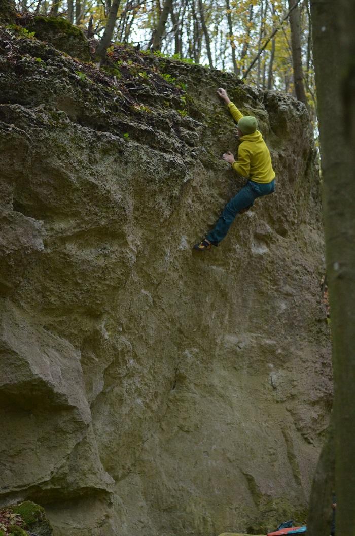 A odtiaľto Adam padol... ale aj tak vyhral (foto: Oli)