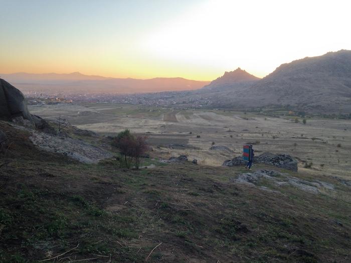 Západ slnka v sektore Baza