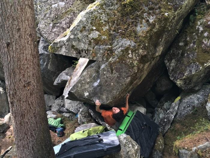 Pacman 7B+, sen lanových lezcov, ktorý sa Cyrilovi podarilo dobyť, pre mňa bol mierne na hlavu. (c) Cyril