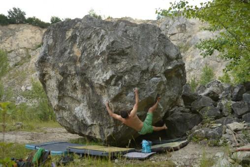 Bouldering v Plaveckom Podhradí
