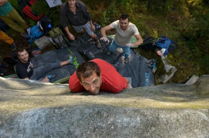 Dlouhé vedení 5C - lezie Kubo Obst (foto: Oli)