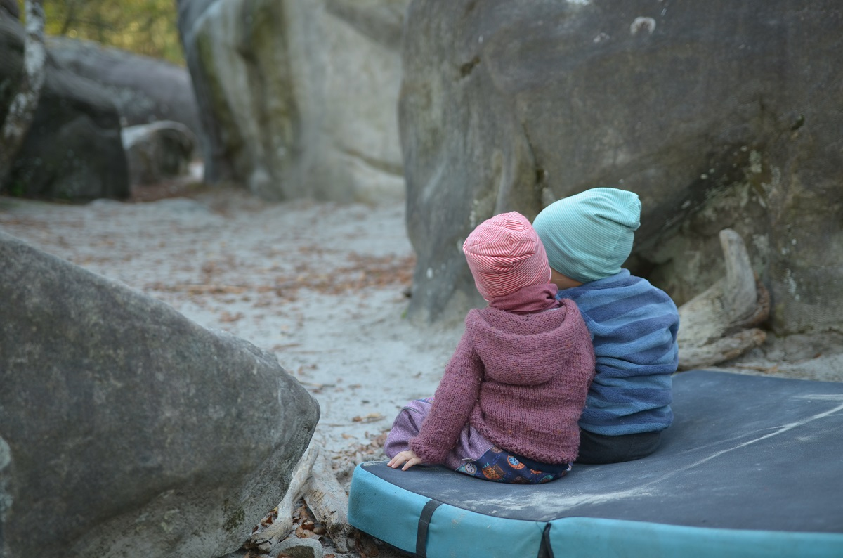 Fontainebleau bouldering