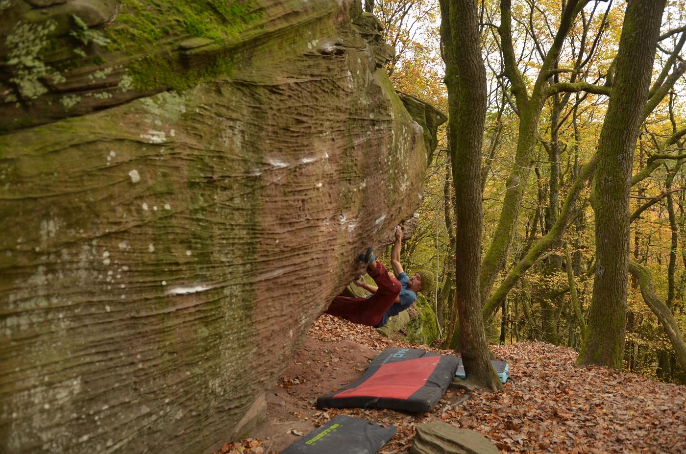 Pfalz Kalmit bouldering