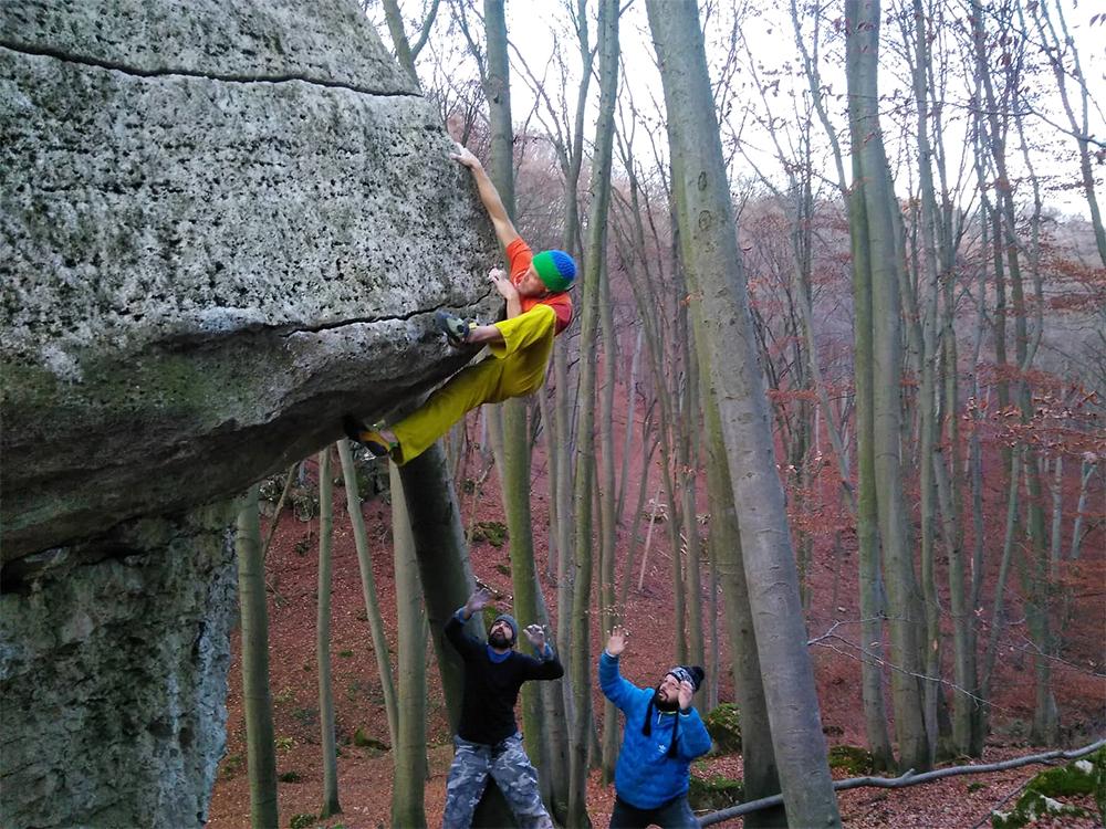 Pustá Ves bouldering