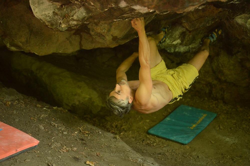 bouldering na Medvedej skale