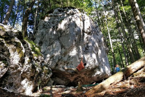 Rodinný bouldering pri Attersee