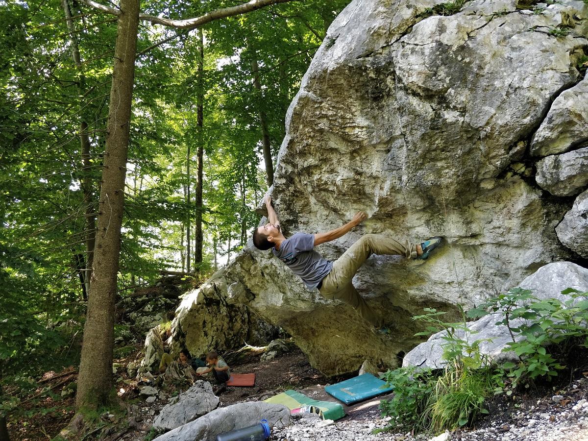 bouldering pri Attersee